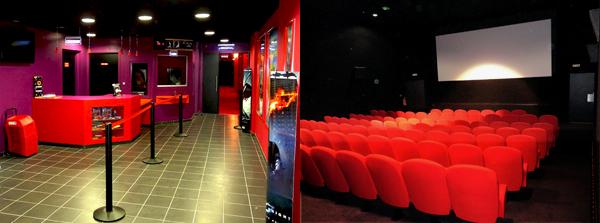 Hall du cinéma et salle n°2